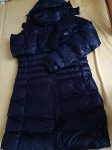 Zimní černá bunda,kabátek s kapucí vel.M