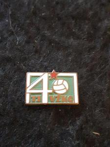 Odznak TJ VŽKG   - VÍTKOVICE, výroční 40 let - zelená  varianta