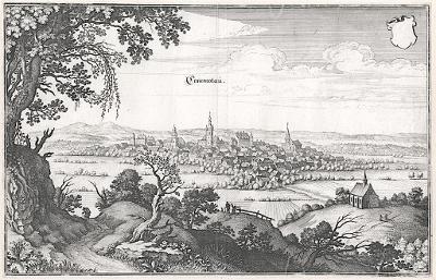 Chomutov, Merian, mědiryt, 1650