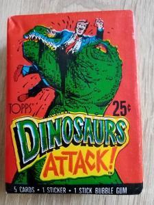 Zberateľský Vintage Balíček Topps 1988 DINOSAURS ATTACK!!