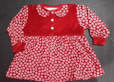 Krásné dívčí šatičky - červené, vel. 98-104 - 2-3,5 let