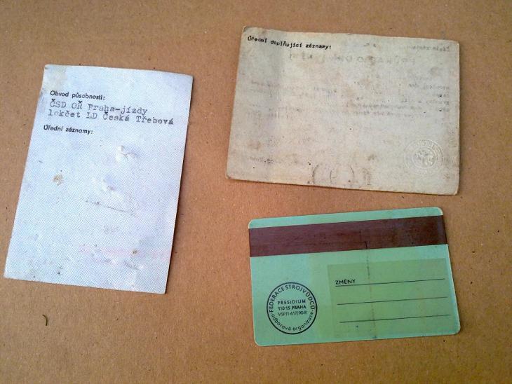 Parní lokomotiva vlak mašina 3x starý dokument  - Ostatní