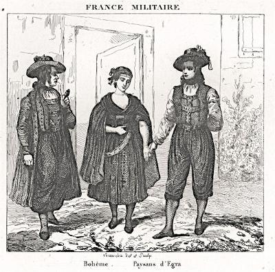 Cheb kroje, mědiryt, 1833