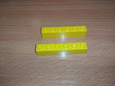 Lego díl 3009 - 2ks žlutá kotka
