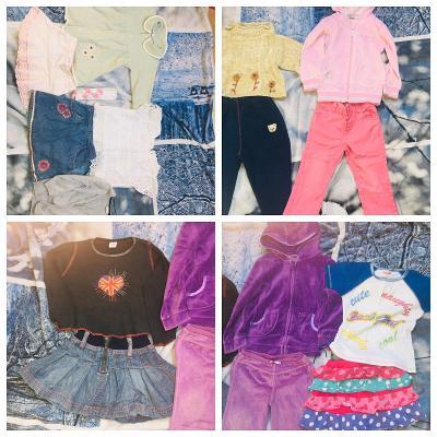 set, dívčí oblečení, šaty, trička, 2 - 3 roky, rifle, mikiny, sukně
