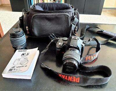 Fotoaparát Pentax K-x + 2 objektivy (18-55mm, 50-200mm)