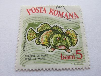 Známky  Rumunsko 1964, Ryby,  Život v moři