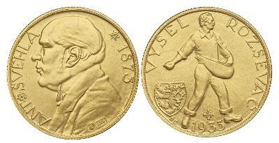 Soubor medailí 2x Au a 1x Ag Antonín Švehla - VYŠEL ROZSÉVAČ 1933/2021
