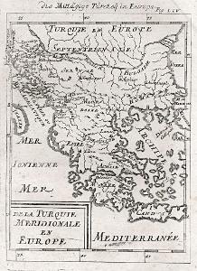 Turecko Řecko, Mallet, mědiryt, 1719