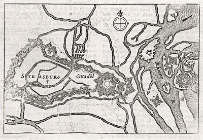 Strasburg, Moll, mědiryt,1695