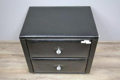 Noční stolek, kontejner se šuplíky, černý (12218B)