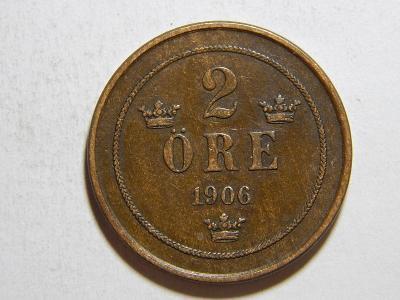 Švédsko 2 Öre 1906 XF-UNC č31970