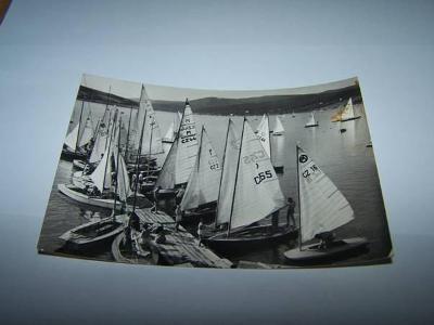 KNÍNÍČSKÁ PŘEHRADA plachetnice /Brno /aa45/