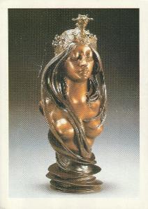 Alfons Mucha - La Nature-zlacený a stříbřený bronz, VF, prošlá