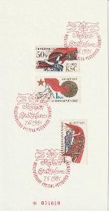 Číslovaný NL Sociflex 81 se známkami 2485 - 2487