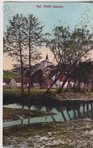 Jemnice (Třebíč), zámek, litografie, kolorovaná