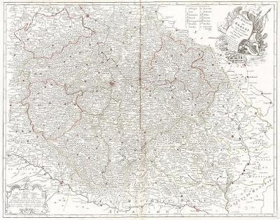 Rouge Le : Royaume de Boheme, mědiryt 1742