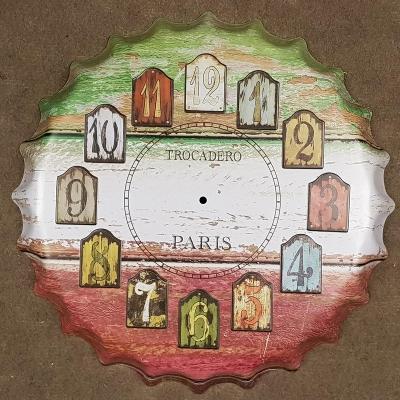 Velká plechová cedule ve tvaru pivní zátky PARIS