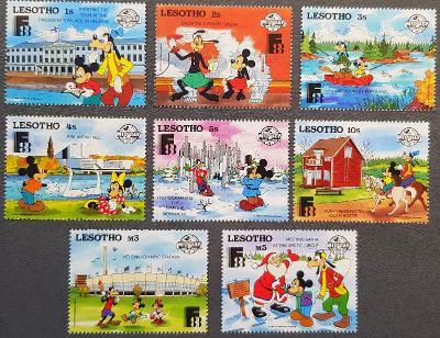 Lesotho Disney dětské, 8 ks známek, krásná série