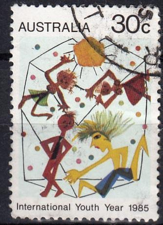 Austrálie 1985 Mi.912 prošla poštou