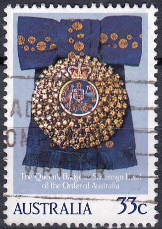 Austrálie 1985 Mi.935 prošla poštou