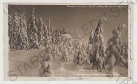 Šumava, chata Maltušovka, zima, sníh foto M.JONÁK