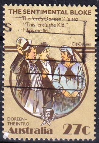 Austrálie 1983 Mi.850 prošla poštou