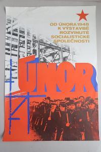 Plakát - Vítězný únor 1948 - komunismus, propaganda