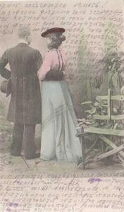 Muž se ženou, kolorovaná