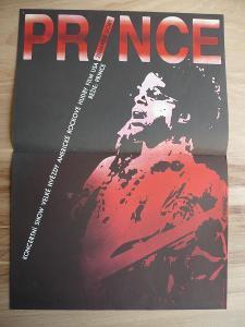 Prince znamení doby (filmový plakát, koncertní rock sho