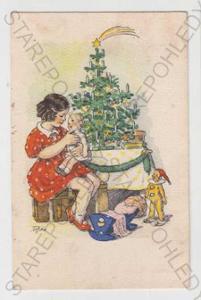 Marie Fischerová - Kvěchová, Vánoce, strom, dítě,