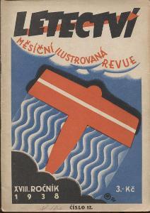 Letectví, číslo 12, ročník XVIII./1938. Měsíční il