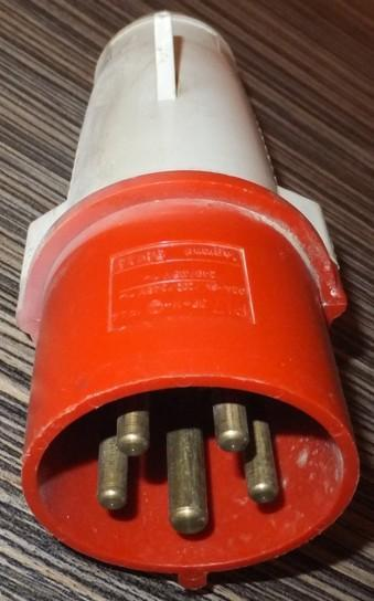 Vidlice zástrčka kabelová 5P 32A 400V IP44 - levně!!!