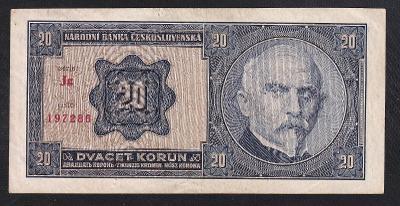 20 KORUN 1926 NEPERFOROVANÁ  RAŠÍN -ŠTEFÁNIK - SUPER STAV!