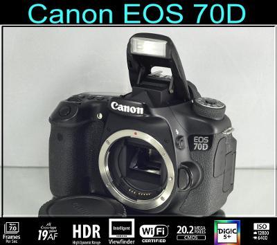 💥 Canon EOS 70D **20,2 Mpix*FullHDV*WI-FI*7 sn./s** 👍TOP 8400 Exp.