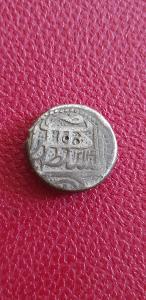 Afghánistán 1 Rupie 1214 (1800) Herat , Stříbro ve skvělé kondici.