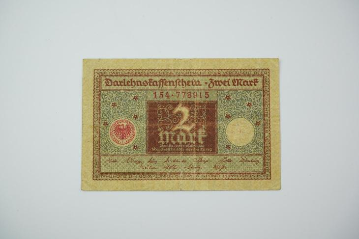 2 Mark 1920 s. 154 hnědá - Bankovky