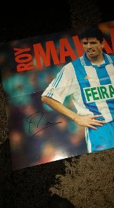 Foto (plakát) Roy Makaay (La Coruňa) s podpisem - fotbal