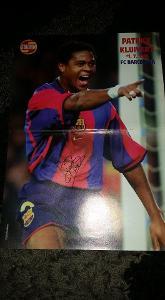 Foto (plakát) Patrick Kluivert (FC Barcelona) s podpisem - fotbal