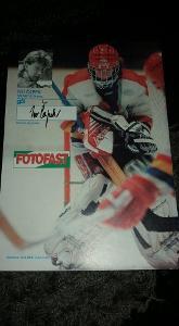 Foto (plakát) Ivo Čapek (HC Sparta) s podpisem - hokej