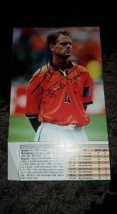 Foto (obrázek časopis) Frank de Boer (Nizozemsko) s podpisem - fotbal