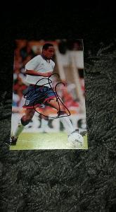 Foto (obrázek časopis) Paul Ince (Anglie) s podpisem - fotbal