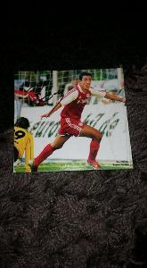 Foto (obrázek časopis) Roy Makaay (Bayern Mnichov) s podpisem - fotbal