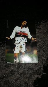 Foto (obrázek časopis) Tomáš Skuhravý (Janov) s podpisem - fotbal