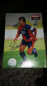 Foto (plakát) Gianfranco Zola (Cagliari) s podpisem - fotbal