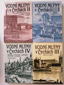 Vodní mlýny v Čechích I+II+III+IV+V+VI+VII+VIII  komplet  bezva stav !
