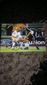 Foto (obrázek časopis) Pavel Nedvěd (Juventus) s podpisem - fotbal