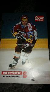 Foto (plakát) David Výborný (HC Sparta) s podpisem - hokej