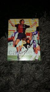 Foto (obrázek časopis) Tomáš Skuhravý (FC Janov) s podpisem - fotbal