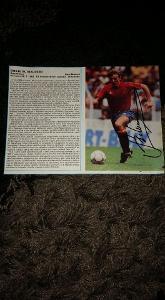 Foto (obrázek časopis) Emilio Butragueňo (Spain) s podpisem - fotbal